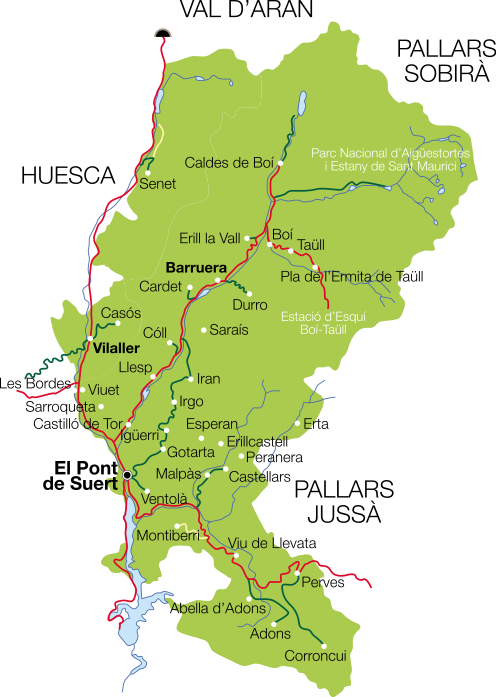 mapa alta Ribagorça